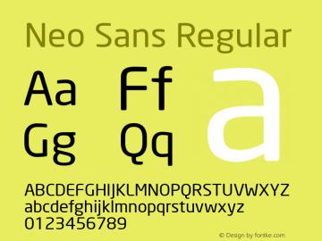 Neo Sans Version 1.00图片样张