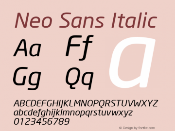 Neo Sans Italic Version 1.00图片样张