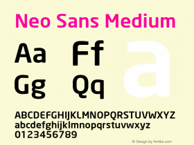 Neo Sans Medium Version 1.00图片样张