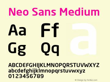 Neo Sans Medium Version 1.00图片样张