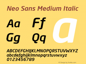 Neo Sans Medium Italic Version 1.00图片样张