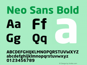 Neo Sans Bold Version 1.00图片样张