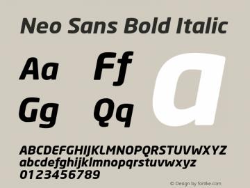 Neo Sans Bold Italic Version 1.00图片样张
