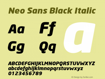 Neo Sans Black Italic Version 1.00图片样张