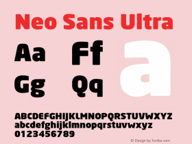 Neo Sans Ultra Version 1.00图片样张