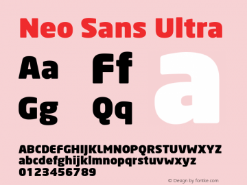 Neo Sans Ultra Version 1.00图片样张