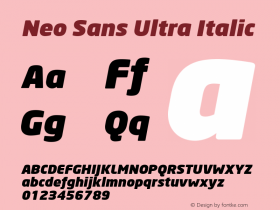 Neo Sans Ultra Italic Version 1.00图片样张