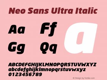 Neo Sans Ultra Italic Version 1.00图片样张
