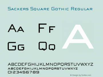 Sackers Square Gothic Version 1.00图片样张