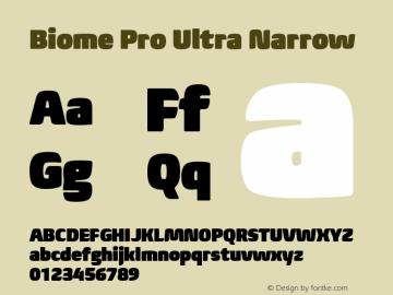 BiomePro-UltraNarrow Version 1.000图片样张