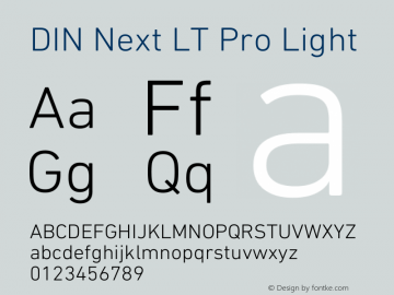 DIN Next LT Pro Light Version 1.40图片样张