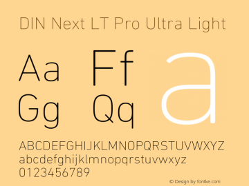 DIN Next LT Pro Ultra Light Version 1.40图片样张