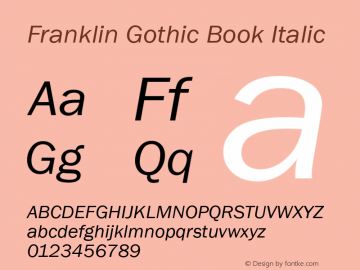 Franklin Gothic Book Font Family|Franklin Gothic Book-Sans