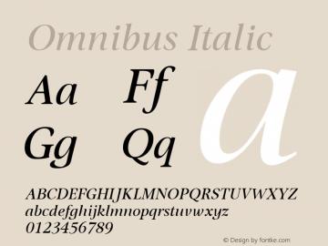 Omnibus Italic Version 2.01图片样张