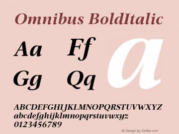 Omnibus Bold Italic Version 2.01图片样张
