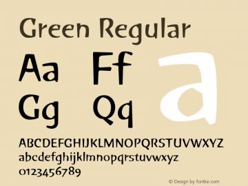 Green Version 1.00; 2006图片样张