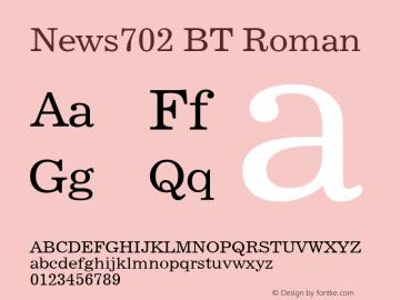 News702 BT Roman Version 2.00图片样张