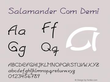 Linotype Salamander Com Demi Version 1.30图片样张