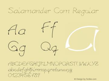Linotype Salamander Com Regular Version 1.30图片样张