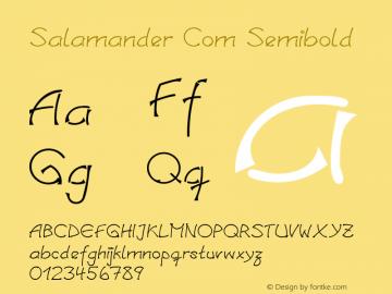 Linotype Salamander Com Semibold Version 1.30图片样张