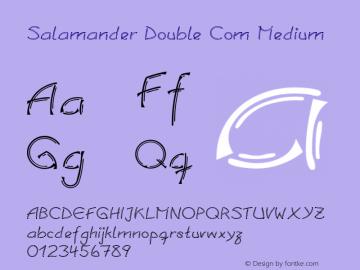 Linotype Salamander Double Com Medium Version 1.30图片样张