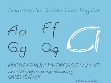 Linotype Salamander Double Com Regular Version 1.30图片样张