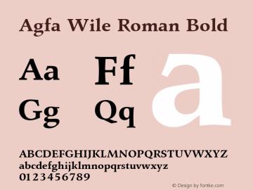 Agfa Wile Roman Bold Version 1.0 9/29/98图片样张