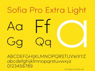 SofiaPro-ExtraLight Version 002.001图片样张