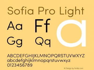 SofiaPro-Light Version 002.001图片样张