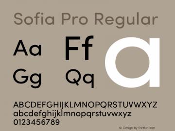 SofiaPro-Regular Version 002.001图片样张