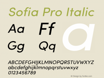 SofiaPro-Italic Version 002.001图片样张