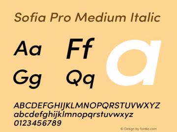 SofiaPro-MediumItalic Version 002.001图片样张