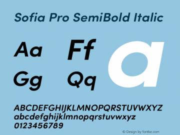 SofiaPro-SemiBoldItalic Version 002.001图片样张