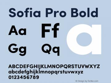 SofiaPro-Bold Version 002.001图片样张