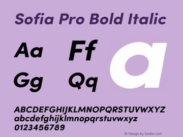 SofiaPro-BoldItalic Version 002.001图片样张