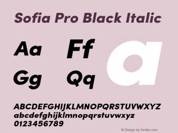 SofiaPro-BlackItalic Version 002.001图片样张