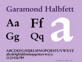 Garamond Halbfett Version 1.0图片样张