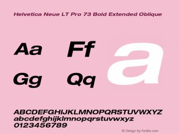 HelveticaNeueLT Pro 53 Ex Bold Italic Version 2.000 Build 1000图片样张