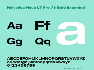 HelveticaNeueLT Pro 53 Ex Bold Version 2.000 Build 1000图片样张