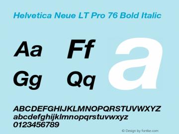 HelveticaNeueLT Pro 55 Roman Bold Italic Version 2.000 Build 1000图片样张