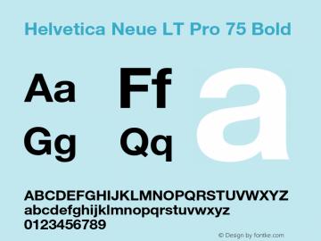 HelveticaNeueLT Pro 55 Roman Bold Version 2.000 Build 1000图片样张