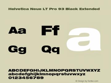 HelveticaNeueLT Pro 93 BlkEx Version 1.00 Build 1000图片样张