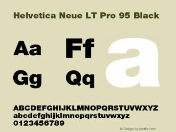HelveticaNeueLT Pro 95 Blk Version 3.000 Build 1000图片样张