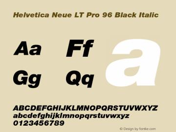HelveticaNeueLT Pro 95 Blk Italic Version 1.00 Build 1000图片样张