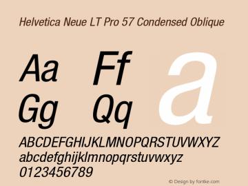 HelveticaNeueLT Pro 57 Cn Italic Version 2.000 Build 1000图片样张