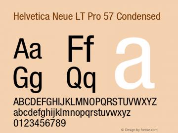 HelveticaNeueLT Pro 57 Cn Version 3.000 Build 1000图片样张