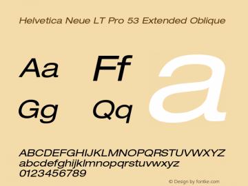 HelveticaNeueLT Pro 53 Ex Italic Version 2.000 Build 1000图片样张