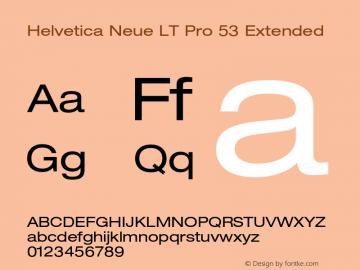 HelveticaNeueLT Pro 53 Ex Version 2.000 Build 1000图片样张