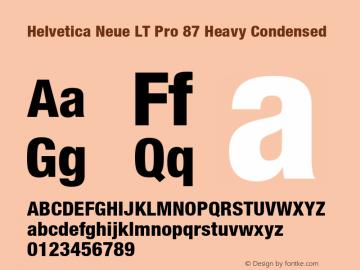 HelveticaNeueLT Pro 67 MdCn Bold Version 2.000 Build 1000图片样张
