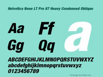 HelveticaNeueLT Pro 67 MdCn Bold Italic Version 2.000 Build 1000图片样张